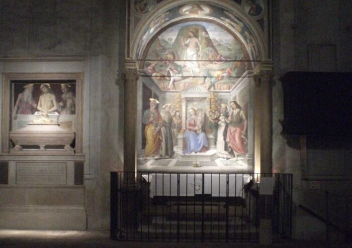 Illuminazione dell'Affresco di Giovanni Santi